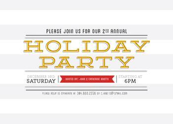 Striped Merriment Party Invitations