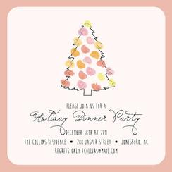 A Watercolor Christmas Party Invitations