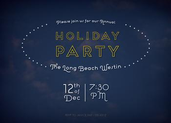 Twilight Clouds Party Invitations
