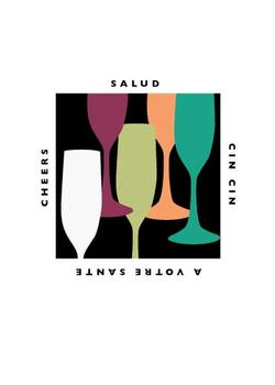 Salud Party Invitations