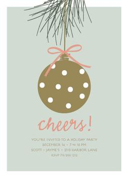 Pine Bough Party Invitations