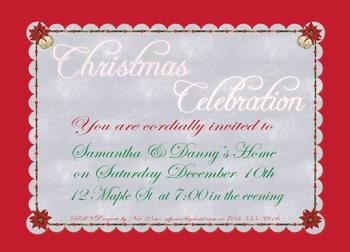 Bright Christmas Party Invitations