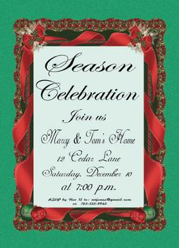 Our Season Celebration Party Invitations