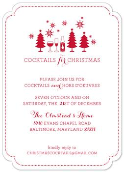 Cocktails for Christmas Party Invitations