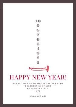 Type Countdown Party Invitations