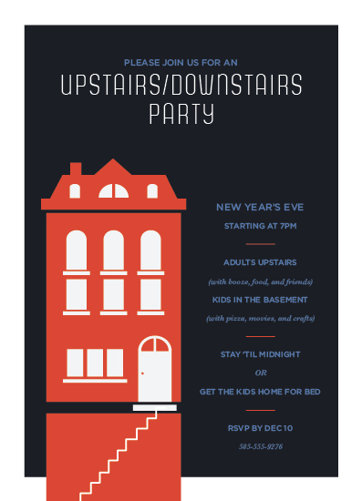 party invitations - Two For One Holiday Party by Up Up Creative