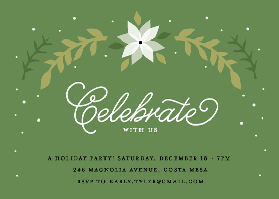 party invitations - White Poinsettia by Monica Schafer