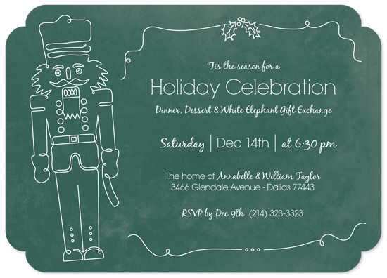 party invitations - Fanciful Nutcracker by Melissa Ponicsan
