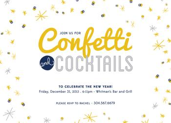 Confetti and Cocktails Party Invitations