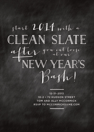 party invitations - Clean Slate New Year by Design Corral