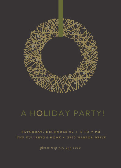 party invitations - Gold Wreath by Susan Brown