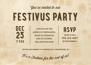 Festivus for the Rest of Us! Party Invitations
