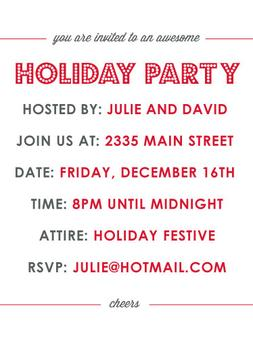 an awesome holiday party