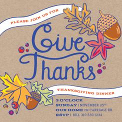 Give Thanks Festive and Bright Party Invitations