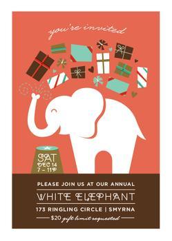 Topsy Turvy White Elephant