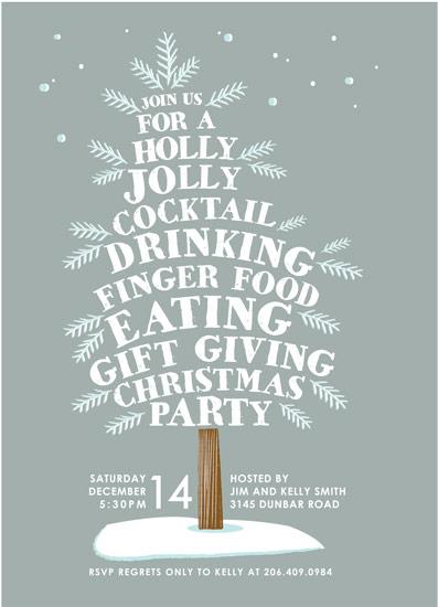 party invitations - holly jolly tree by Karidy Walker