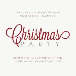 Classic Christmas Party Invitations