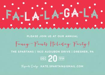 FaLaLa GaLa Party Invitations