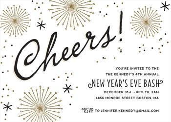 Cheers & Sparkle Party Invitations