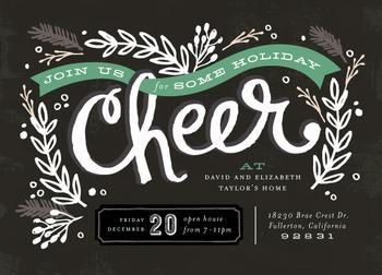 Chalkboard Cheer Party Invitations