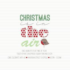 Christmas is in the Air Party Invitations