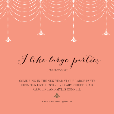 party invitations - Gatsby New Year Large by Design Corral