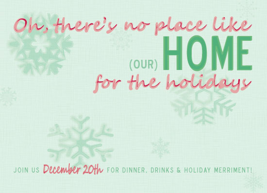party invitations - Our Home for the Holidays by Megan Gilliam