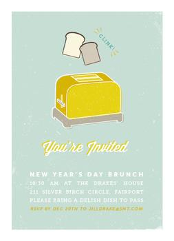 let's toast! holiday brunch invitation