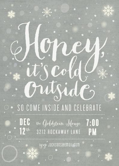party invitations - it's cold outside by Rebecca Bowen