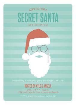 Shhh Secret Santa Party Invitations