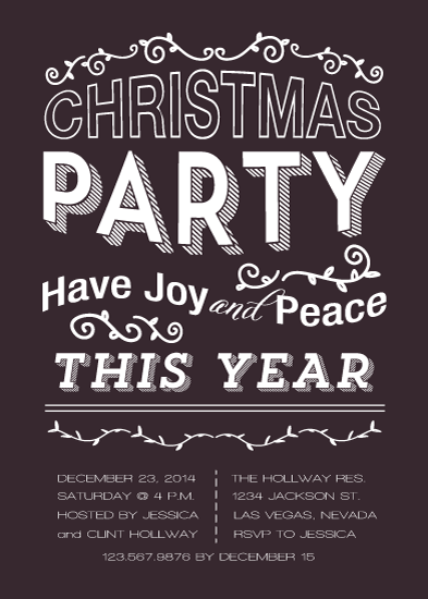 party invitations - have joy and peace by aticnomar