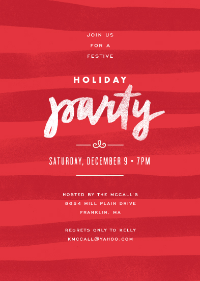 party invitations - Painterly Stripes by Jennifer Wick