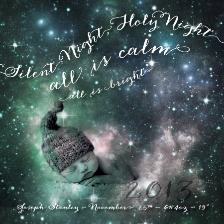 holiday photo cards - Silent Night Nebula by Adrienne Berry