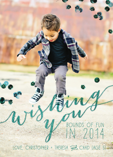 holiday photo cards - Wishing you Bounds of Fun by Adrienne Berry