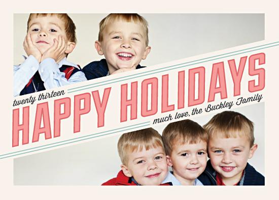 holiday photo cards - On the Slant