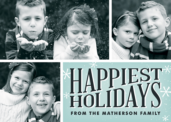 holiday photo cards - Happiest Holidays