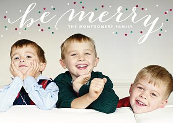 Glitter Be Merry Holiday Photo Cards