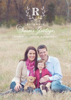 Holiday Crest Holiday Photo Cards