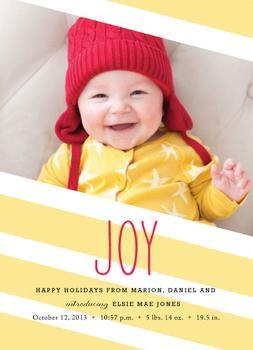Sunny Joy Holiday Photo Cards