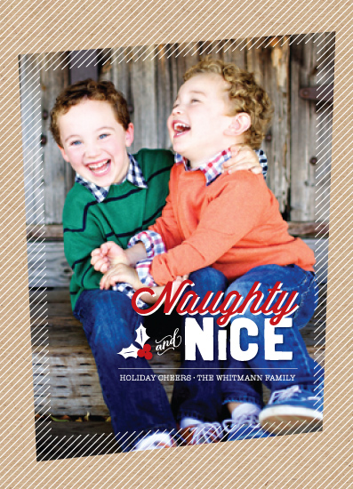holiday photo cards - Naughty and Nice by fatfatin