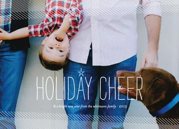 Tilt and Cheer Holiday Photo Cards
