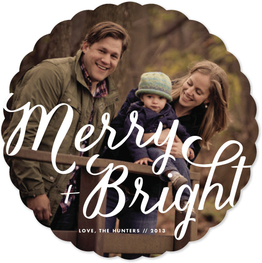holiday photo cards - Merry+Bright by carly reed walker
