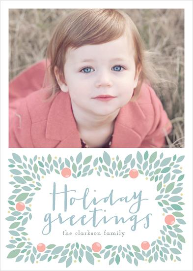 holiday photo cards - Botanical Wreath
