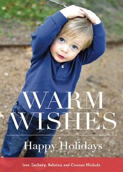 Toasty Holiday Photo Cards