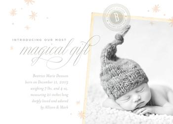 Magical Gift Holiday Photo Cards