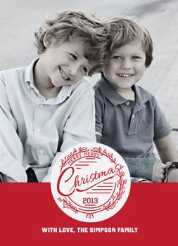 Merry Merry Christmas Holiday Photo Cards