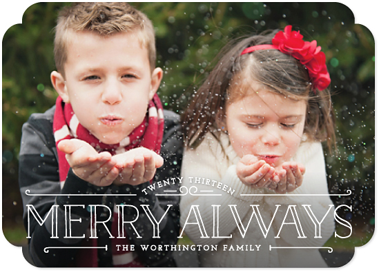 holiday photo cards - Merry Always