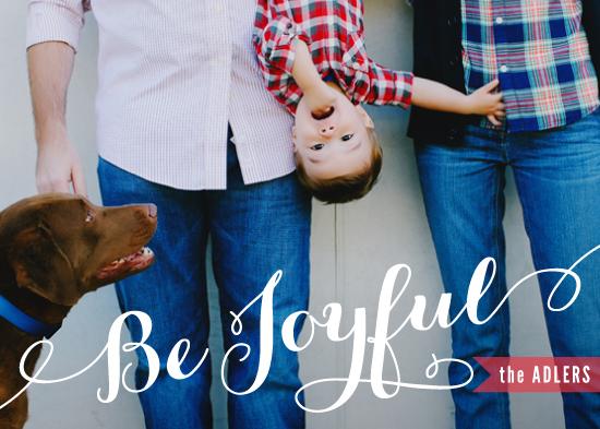 holiday photo cards - Be Joyful