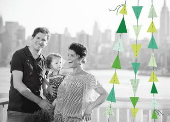 paper tree garland Holiday Photo Cards