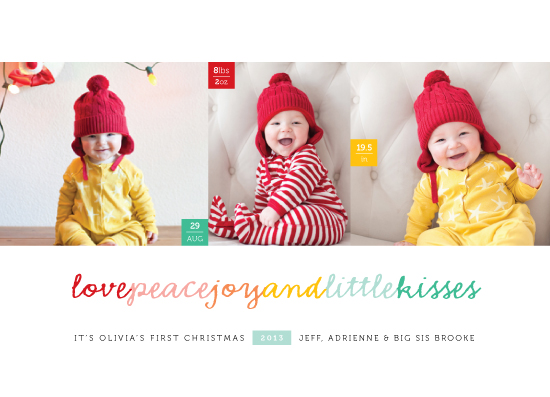 holiday photo cards - Happy Kisses by fatfatin